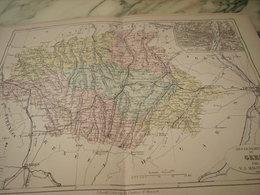 CARTE ANCIENNE 19e - DÉPARTEMENT GERS ET AUCH - MALTE BRUN 1881 - Geographische Kaarten