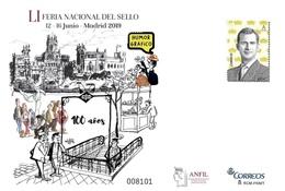 ¡NOVEDAD! ESPAÑA SPAIN ESPAGNE FERIA NACIONAL DEL SELLO 2019 HUMOR GRÁFICO EDIFIL 152 SOBRE ENTERO POSTAL NUEVO - Stamped Stationery
