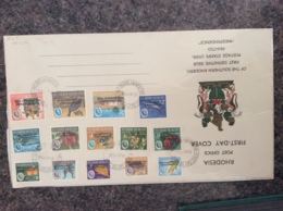 RHODEISA 1966 First Day Cover 17.1.66 Of Independence Set Sg359-72 Used - Rhodesia (1964-1980)