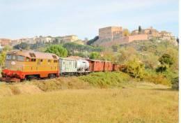 105 Treni  D 342.4010 San Giovanni D'Assi Siena Rotabili Tpaívo Trein Railways Zug Treno Steam Chemin De Fer - Treni
