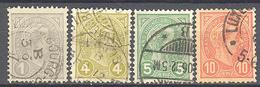 Luxembourg : Yvert N° 69/73°; Sauf 70 Cote 2.75€ - 1895 Adolphe Right-hand Side