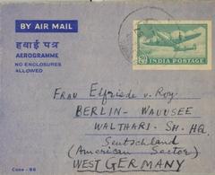 1957 INDIA , AEROGRAMA CIRCULADO , AMRITSAR - BERLÍN - 1950-59 República