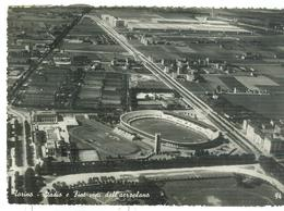 TORINO - STADIO E FIAT VISTI DALL'AEROPLANO - B/N-VIAGGIATA 1951 -TIMBRO POSTE TORINO - EDIZ. SACAT - TORINO - Stadiums & Sporting Infrastructures