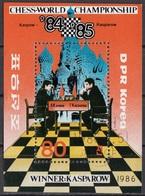 DPR Korea 1986 Sc. 2549 Scacchi World Chess Championship, Moscow Sfida Karpov Kasparov CTO - Corea Del Nord