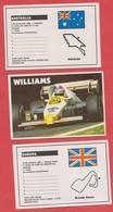Set Of 3 Pocket Calendar - Calendrier  Série Cars -1985 - FORMULA 1 Williams Brands Hatch Circuit Adelaide Australia - Calendars