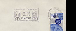 Flamme Sur Lettre - Slogan Meter On Cover - Jumelage Reims Aix La Chapelle 51 - Europäischer Gedanke