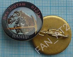 UKRAINE / Badge / Alpinism Tourism Mountaineering Tourism. Pamir.  Zortaş Peak 2010s - Alpinismus, Bergsteigen