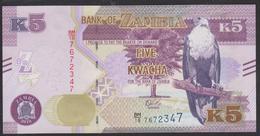 Zambia 5 Kwacha 2018 P57b UNC - Zambia