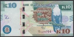 Zambia 10 Kwacha 2018 P58b UNC - Zambie