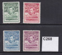 Basutoland 1938 4 Values To 2d (MM) - 1933-1964 Crown Colony
