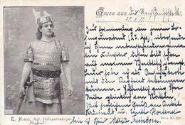 AK E. Kraus - Kgl. Hofopernsänger - Als Siegfried - Bahnpost Berlin-Hannover - 1899 (41900) - Opera
