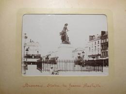 60 - Beauvais - Photos Originales - Statue De Jeanne Hachette Et La Cathédrale  - 1900 - TBE - - Places