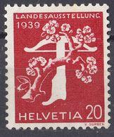 HELVETIA - SUISSE - SVIZZERA - 1939 - Yvert 339 Nuovo SENZA GOMMA. - Nuovi