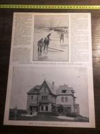 ENV 1900 LA VILLA BELLEVUE A DIEPPE BAMBERGER PRES DE POURVILLE - Old Paper