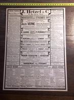 ENV 1900 PUBLICITE HETZEL JULES VERNE 1897 - Collections