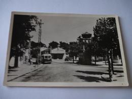 TROLLEYBUS VETRA (Ligne 6) Devant Le Café De La Victoire LA BOUZAREAH - ALGER   Vers 1953 - Détails Sur Les 2 Scans - Bus & Autocars
