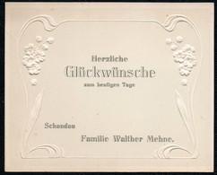 C5990 - Walther Mehne Bad Schandau - Präge Glückwunschkarte Visitenkarte - Visiting Cards