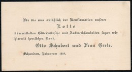 C5965 - Otto Schubert Grete Schubert Bad Schandau - Glückwunschkarte Visitenkarte - Visiting Cards
