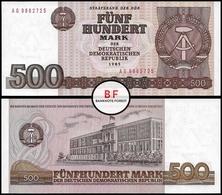 Germany | DDR | 500 Marks | 1985 | P.33 | UNC - [ 6] 1949-1990 : RDA - Rep. Dem. Tedesca