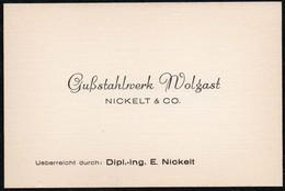 C0618 - TOP Nickel & Co Gußstahlwerk Wolgast  Visitenkarte - Visiting Cards