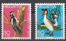 HELVETIA - SUISSE - SVIZZERA - 1970 - Lotto Di 2 Valori: Yvert 870 Usato E 871 Nuovo SENZA GOMMA. - Svizzera