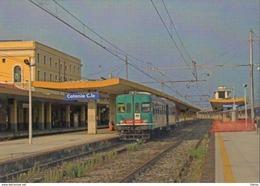 181 Treno ALn 668.3025 Catania Centrale OMECA Rairoad Train Railways Treni Steam Chemin De Fer - Stazioni Con Treni