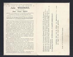 DOODSPRENTJE WEZEMAEL DAEM ° BAVEGEM 1870 + HERZELE 1949 - Devotion Images