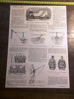 ENV 1900 LES ENGINS DE SAUVETAGE CANOT BOUEE A CULOTTE PHARE FARAMAN AIGUES MORTES MARSEILLE - Old Paper
