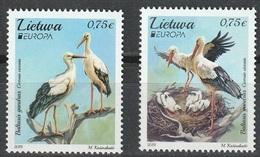 2019 - LITUANIA  / LITHUANIA - EUROPA  CEPT - UCCELLI / BIRDS - SET COMPLETO. MNH. - 2019