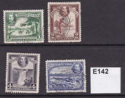 British Guiana 1934 4 Values To 6c - British Guiana (...-1966)