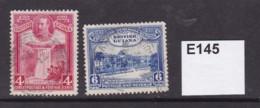 British Guiana 1931 Centenary Of County Union 4c And 6c - British Guiana (...-1966)
