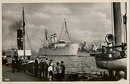 "BARCOS / SHIPS , TARJETA POSTAL NO CIRCULADA , AUSREISE DER "" OCEANA "" IN HAMBURG - Schiffe"