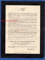 Document Ancien De 1888 - BLANQUEFORT ( Gironde ) - Jean André Edmond KERCKOVE VUILLAUME - Historical Documents
