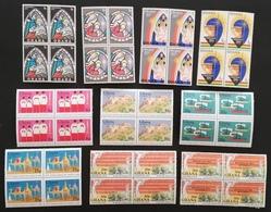 Ghana  Mixed  Christmas  10 Blocks Of Four M.N.H. - Ghana (1957-...)