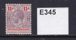 British Solomon Islands 1913 11d (MM) - British Solomon Islands (...-1978)