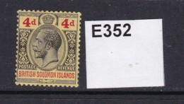 British Solomon Islands 1913 4d (MM) - British Solomon Islands (...-1978)