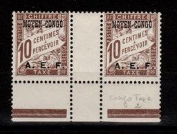 Congo - Taxe YV 2 N** Luxe En Paire Interpanneaux - Unused Stamps