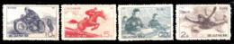 629  Motorcycles - Parachutism - North Korea Yv 718-25 MNH - 3,50 (9) - Motos