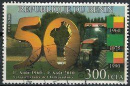 Bénin 2010 Oblitéré Rond Used Stamp Indépendance Agriculture Tracteur - Benin - Dahomey (1960-...)