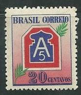 Brazil 1945 FEB WWII Brazil C-206 20cts Mint - Unused Stamps