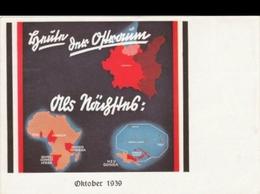 (art 2999) Reichskolonialbund Propaganda Karte + Sst - Deutschland