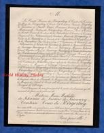 Document Ancien De 1887 - PARIS , 101 Rue Du Bac - Marie Mathilde De JOHANNE De LACARRE De SAUMERY Comtesse De KERGORLAY - Historical Documents