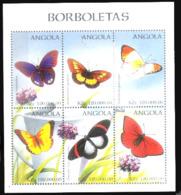 783  Papillons - Butterflies - Angola 1157-62 MNH - 4,25 (12) - Butterflies