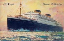 1931 BARCOS / SHIPS , TARJETA POSTAL NO CIRCULADA , M.V. GEORGIC , BRITAIN'S LARGEST MOTOR VESSELS, CUNARD WHITE STAR - Schiffe