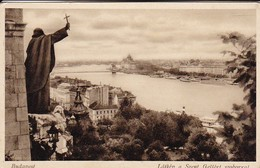 AK Budapest - Látkep A Szent Gellért Szoborral (41911) - Ungarn