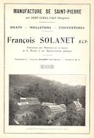 SAINT GENIEZ D' OLT Manufacture De St Pierre François Solanet  1922 - Old Paper