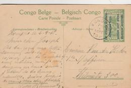 """Entier Postal Congo Belge 5  Surchargé """"est Africain Allemand Occupation Belge"""" ,cachet  Kongolo 4-9-1918 - Ruanda-Urundi"""