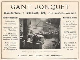 MILLAU Ganterie  Jonquet  1922 - Old Paper