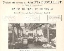 MILLAU SA Des Gants Buscarlet  Atelier De Fente Et Réception Des Gants  1922 - Old Paper