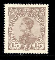 ! ! Portugal - 1910 D. Manuel 15 R - Af. 159 - MH - 1910 : D.Manuel II